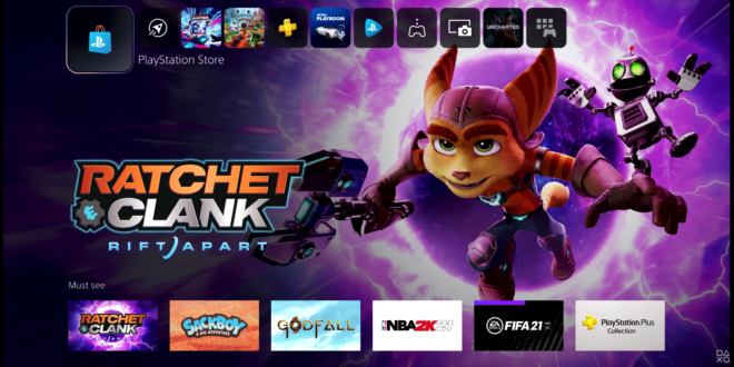 PS5 Ui Store