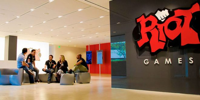 Riot Games' open plan workspace