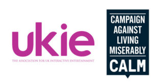 Ukie and CALM logos